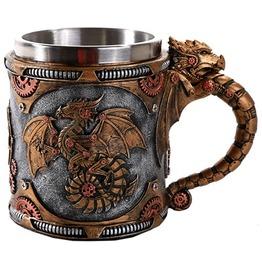 Me11556 Myth Steampunk Dragon Mug