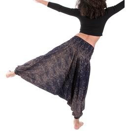 Wakapu Trousers One Size Sitharoon Yoga Aladin Harem Elephant Baggy Pants