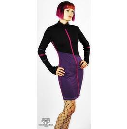 Division Black And Purple Modern Dress