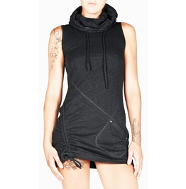 Grega Black Modern Gothic Tunic Dress