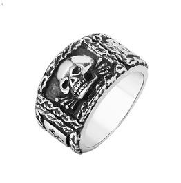 Men's Punk Skull Titanium Stainless Steel Ring