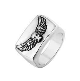 Men's Evil Wings Skull Titanium Stainless Steel Ring