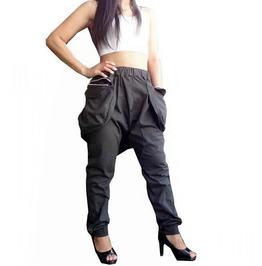 Harem Pants Charcoal Gray Trouser Apocalyptic Style P040