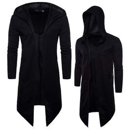 Rebelsmarket men fashion long hooded windbreaker jacket goth steampunk plus size jackets 8