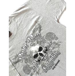 Cool Vintage Skull + Swords Skull Head Grey Medium Biker Rally T Shirt New