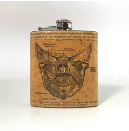 Hand Collaged Vintage Flask : Pterygoid Muscles