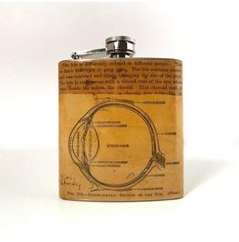 Hand Collaged Vintage Anatomy Flask Eyeball