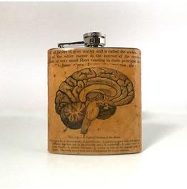 Vintage Anatomy Brain Flask