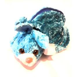 Awesome Vintage Crush Velvet Turquoise Blue Bunny Rabbit Teddy Bag