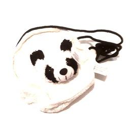 Awesome Vintage Crushed Velvet Black And White Panda Circle Design Bag