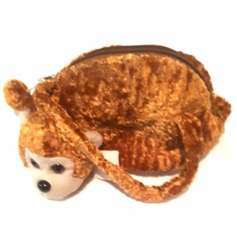 Awesome Vintage Crushed Velvet Cheeky Monkey Teddy Bag