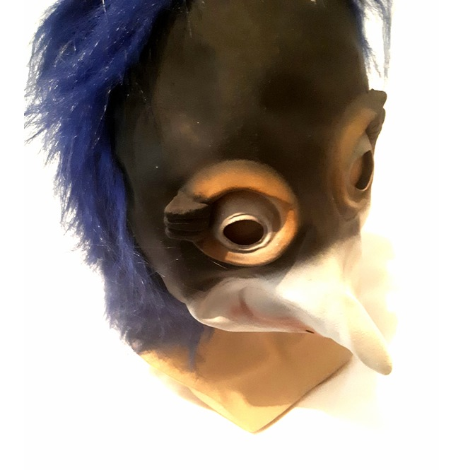 Awesome! New Vintage Unique Latex Rubber Penguin Wacky Bird Mask &