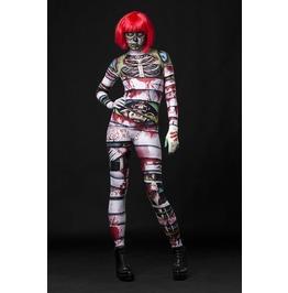 Occult Mummy Skeleton Full Body Halloween Jumpsuit Costume