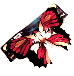 New Vintage Renaissance Eye Catching Elasticated Red Butterfly Face Mask