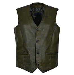 Men Real Heavy Duty Leather Vest Steampunk Victorian Style Armour Vest
