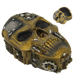 Me12371 Myth Steampunk Skull Box. Product Size: