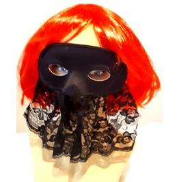 Cool Vintage New Black Lace Eye / Face Mask