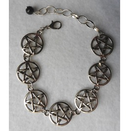 Pentacle Bracelet, Pentagram, Pentacle, Witchcraft, Witch, Wicca, Occult