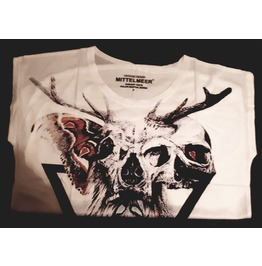 Cool Unique Skull Butterfly Design Top / T Shirt One Size Small