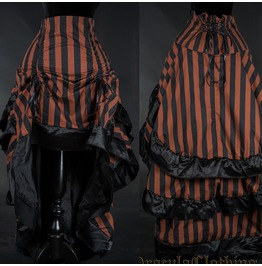 Steampunk Striped Layer Bustle Skirt