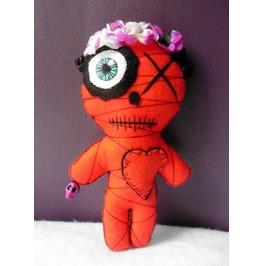 Mummy Dias De Los Muertos Voodoo Doll, Dead, Red, Calavera, Frida, Mexican