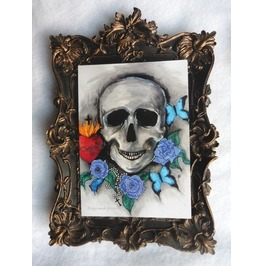 Memento Mori Postcard, Curiosities, Skull, Greeting, Card, Art, Gothic