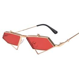 Men Women Metal Frame Polarized Trend Triangle Flip Steampunk Sunglasses