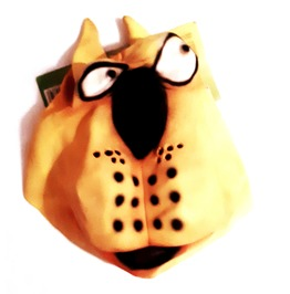 Cool New Vintage Yellow Cartoon Carticurture Dog Latex Rubber Mask