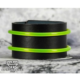 Cryoflesh Uv Reactive Tube Cyber Rave Leather Bracelet