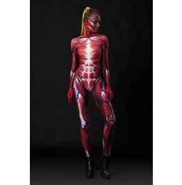 Muscles Full Body Halloween Jumpsuit Costume