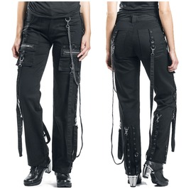 Women Gothic Pant Steampunk Style Chains Buckles Pant For Women