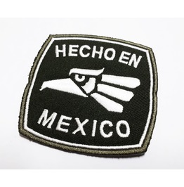 Hecho En Mexico Embroidered Iron On Patch.