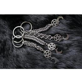 Pentacle Moon Child Handmade Key Chain Accessories