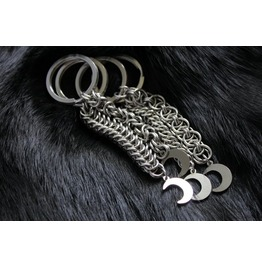 Crescent Moon Wiccan Pendant Keychain