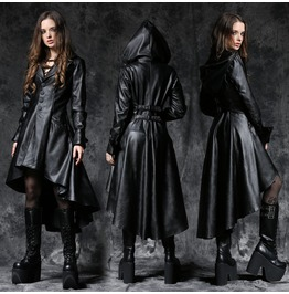 Faux Leather Dovetail Coat