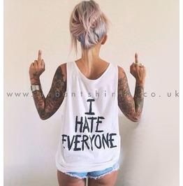 I Hate Everyone Vest Unisex Oversized Tank Top Unisex †