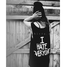 I Hate Everyone Black Vest Unisex Oversized Tank Top †