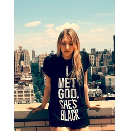 I Met God She's Black T Shirt † Unisex Loose Fit T Shirt †