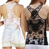 Rebelsmarket sheer lace back cut out tank top tanks tops and camis 2