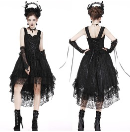 Dw198 Gothic Lolita Lace Cocktail Dress