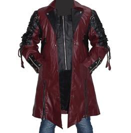 Men Gothic Trench Coat Matrix Jacket Fashion Coat For