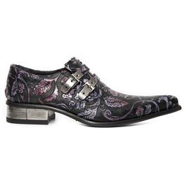 New Rock Shoes Men's Vintage Flower Urban Shoes