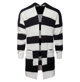 Men's Stripe Cardigan Open Front Tops