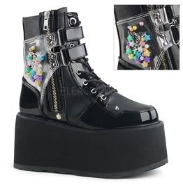 """3 1/2"""" Pf Lace Up Ankle Boot, Outside Zip"""