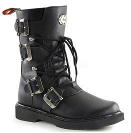 Demonia Steampunk Heavy Metal Vulcan Shaft Gothic Boots