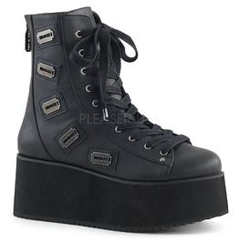 """2 3/4"""" Pf Lace Up Ankle Boot, Back Zip"""