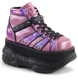 Neptune Pink Glitter Ankle Boots