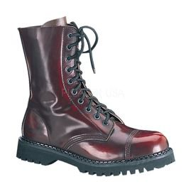 Demonia Gothic Military Er Heavy Metal Buffalo Soldier Brown Combat Boots
