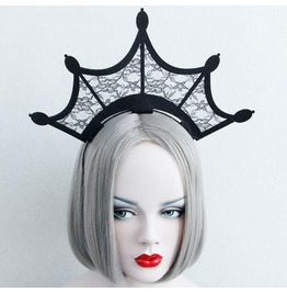 Dark Forest Gothic Lace Crown Tiara Cosplay Headdress Womens Accessories
