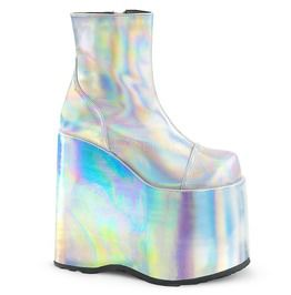 "7"" Pf Ankle Boot, Side Zip, Silver Holo"